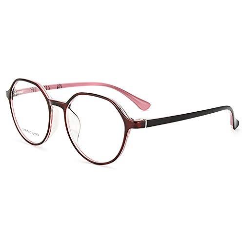 CAOXN Gafas De Lectura Progresivas De Enfoque Múltiple para Mujer Lente De Resina De Luz Anti-Azul HD Lector De Fotograma Completo TR90,Rosado,+3.00