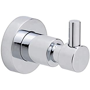 tesa Loxx removable bathroom wall hook, high shine chrome-plated metal, no drilling, removable adhesive:Greatestmixtapes