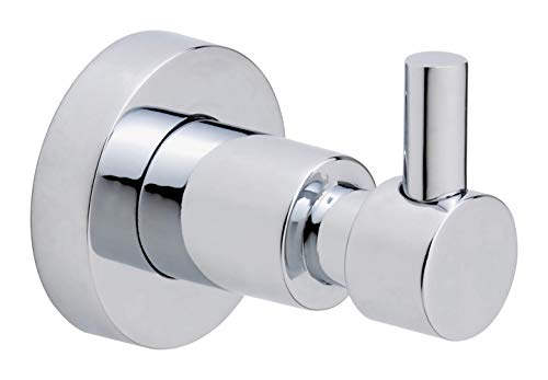 Price comparison product image tesa Loxx No Drill,  Wall Mounted Bathroom Shower Wall Hook,  Chrome-plated metal,  Removable Adhesive Glue Technology