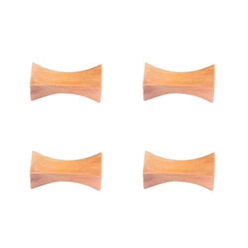 UPKOCH 4 Piezas de Palillos de Madera de Descanso Tipo Almohada Tenedores Tenedores Soporte Soporte Chino Estilo Japonés Mesa de Cena Decoración para Restaurante en Casa (Cintura Gruesa)