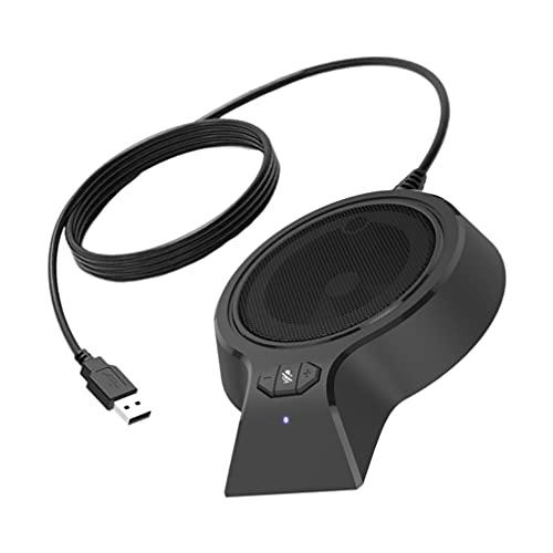 Generic Altavoz USB Omnidireccional Micrófono de Conferencia Mesa Superior Video Llamada Altavoz para Educación Grabación Juego Distancia Chat