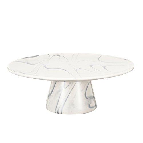 """Urban Grey, White Stoneware 9"""" Artist Fare Cake Display, dessert, Pie Plate Round"""