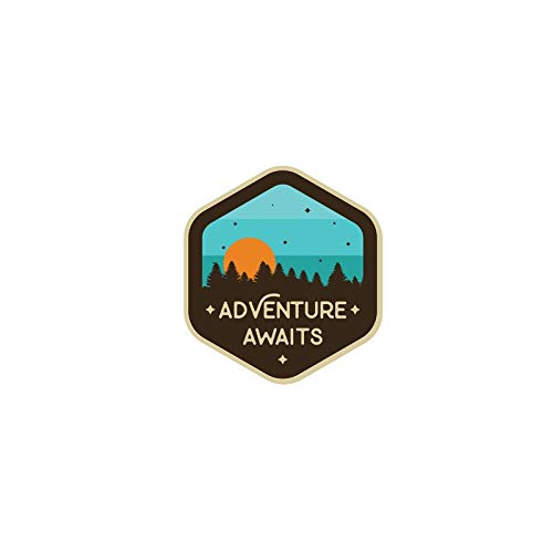 Vinilo Pegatina Adhesivo Adventure Coches, caravanas, Jeep, autocaravanas, campistas 13 x 13 cm de CHPYHOME