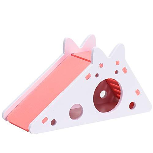 Hideout Hideout House de madera, pequeña casa de plástico de animales, lindo hideout escondite ejercicio escondite juguetes para hámster cobaya