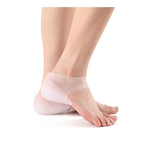 WDSFT Plantillas para Zapatos Desodorante Suela 1 par Aumento de la Altura de la Plantilla del talón Invisible Ascensor Pads silicón Lleno movibles del Gel Calcetines for Hombres Mujeres