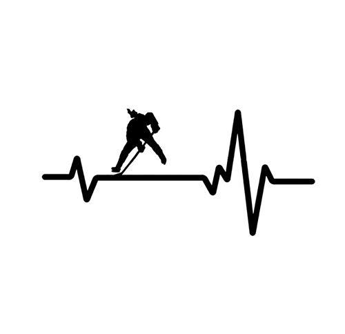 Fahrzeug-Autoaufkleber Einzigartiges Hockey-Auto-Aufkleber-Vinyldekor 16.3 * 7.6CM 2 Stück