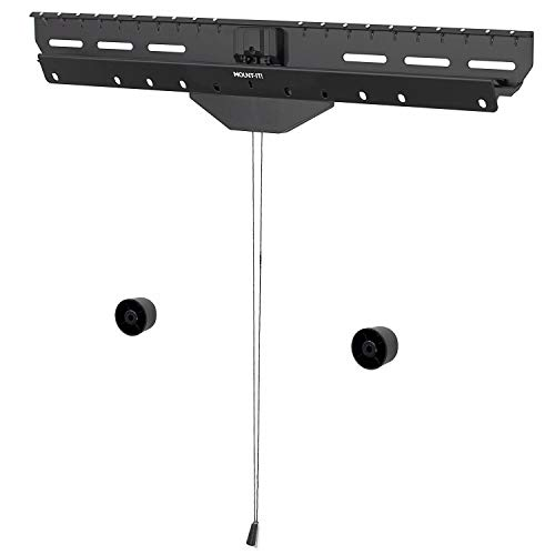 No Stud TV Wall Mount by Mount-It! - Low-Profile Tilting Hanger Mount for No-Damage No Drill Dry Wall Installation | 110 Lbs Weight Capacity, Up to VESA 600x400