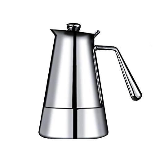 ZHHAOXINPA Klassiek espresso-apparaat voor romige espresso, roestvrij staal, Italiaans koffiezetapparaat voor 4 kopjes, espresso, draagbaar voor koffiezetapparaat
