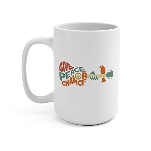 Beatles Mug Give Peace a Chance Lennon Lyrics Beatles Lyrics Beatles Gifts Best Friend Gift Gift Ideas for Wife Music Gifts
