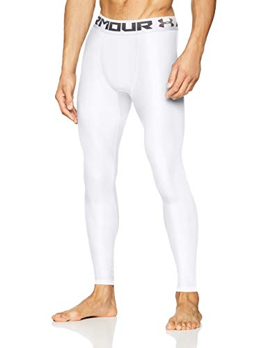 Under Armour Heatgear 2.0 Leggings, Hombre, Blanco (White/Graphite (100), L