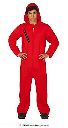 FIESTAS GUIRCA Disfraz de Condenado con Capucha Roja Hombre Adulto Talla S 46-48