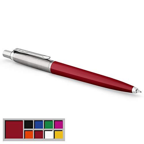 Parker Jotter Originals Kugelschreiber | Klassisches Rot | Mittlere Spitze | Blau Tinte