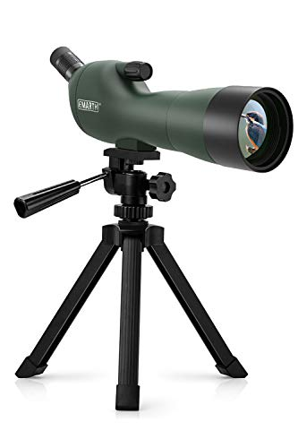 Emarth 20-60x60AE Waterproof Angled Spotting Scope with Tripod, 45-Degree Angled Eyepiece, Optics Zoom 39-19m/1000m for...