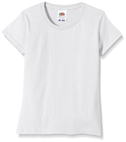 Fruit of the Loom Mädchen Sofspun T-Shirt, weiß, 12-13 Jahre