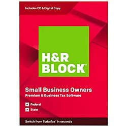 H&R Block Premium & Business Tax Software 2019, Traditional Disc