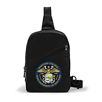 Ali Yee Suny Maritime College Logo Chest Package Sling Bag Outdoor Travel Bag Multipurpose Daypack