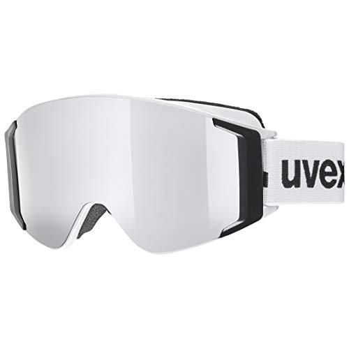 Uvex g.gl 3000 TOP, maschera da sci Unisex adulto, white/silver-brown, one size