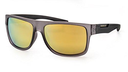 Back In Black Polarisierte Sonnenbrille/Moderne eckige Sonnenbrille für Herren im sportlichen Look F2504108