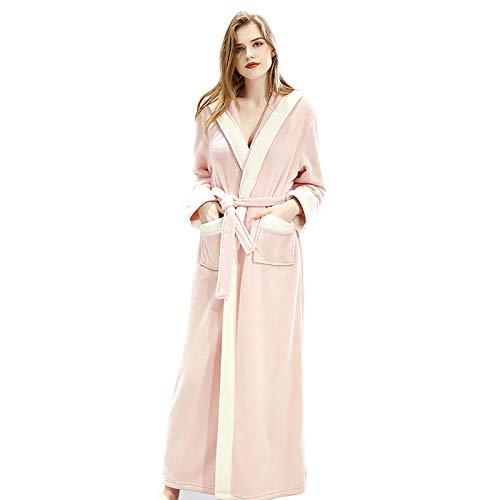 Abrigo de invierno para mujer, de forro polar, manga larga, con capucha, suave y cómodo, color rosa, talla M