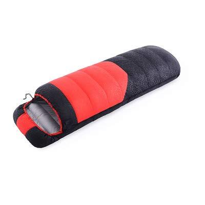 Crossdresser clothing Einfachnaht Ultraleichter Warmer Daunenschlafsack - ideal für Erwachsene und Kinder - hervorragende Campingausrüstung,Red,45 * 25 * 25cm