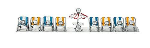"""Copa Judaica Beach Chairs Menorah for Chanukah – for Standard Hanukkah Candles – Fun Novelty Menora – 1.5"""" Tall x 11.5"""" Wide"""