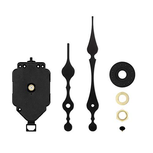 Baoblaze Kits De Movimiento De Bricolaje con Movimiento De Reloj De Péndulo - Mecanismo De Movimiento De Reloj De Pared De Cuarzo Analógico con 2 Manos Largas
