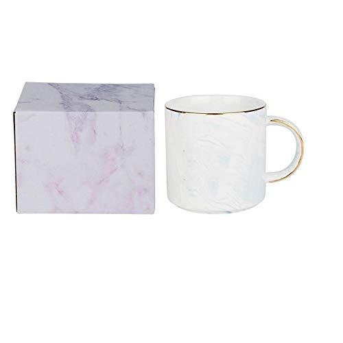 Taza de piedra Dali Banco dorado creativo Taza de cerámica Taza de café con viento INS Taza de agua potable para parejas - Cuchara de cubierta de cinturón de oro blanco