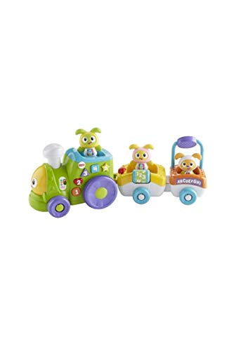 Fisher-Price Le Train de Bebo et ses Amis robot jouet motorisé, éveille bébé en musique, version française, 6 mois et plus, FXH93