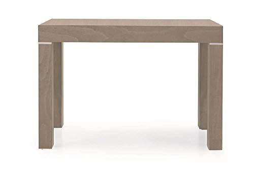 Milani Home s.r.l.s. Tavolo da Pranzo Moderno di Design Allungabile A Consolle Tortora Cm 110 X 50/100/150/200/250/300 per Interno Sala da Pranzo