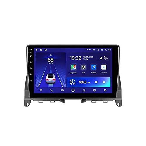 Car Stereo Android 10.0 Radio compatible Mercedes Benz C Clase 3/W204/S204 Navegación GPS Unidad principal de 9 pulgadas Pantalla táctil HD Reproductor multimedia MP5 Video con WiFi DSP SWC Mirro