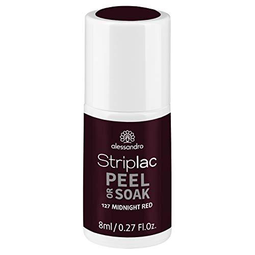 alessandro Striplac Peel or Soak Midnight Red – LED-Nagellack in dunklem Rot – Für perfekte Nägel in 15 Minuten – 1 x 8ml