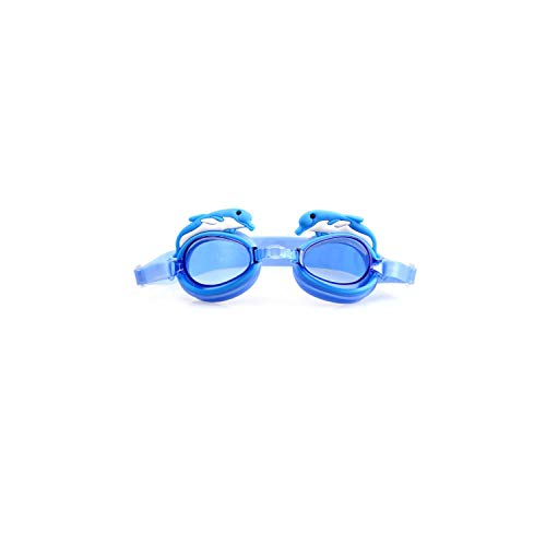 Swimming Goggles Kids Professional Cartoon Boys Girls Pool Children Waterproof Swim Eyewear Silicone Diving Glasses,Blue Dolphin