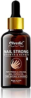 Olvedic 100% Natural Nails Strong Oil For Cuticle Care, Nail Growth & Strength 30 ml Yellow ()