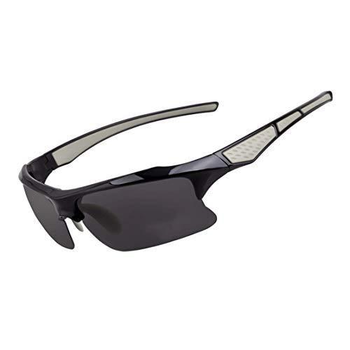 A-myt Personalidad, Chic Gafas de Sol de Moda Ligeras Polarizadas Deportes Gafas de Sol Anti-Ultravioleta Pesca Polarizadas Polarizadas Gafas de Sol Proteja los Ojos del daño (Color : Gray)
