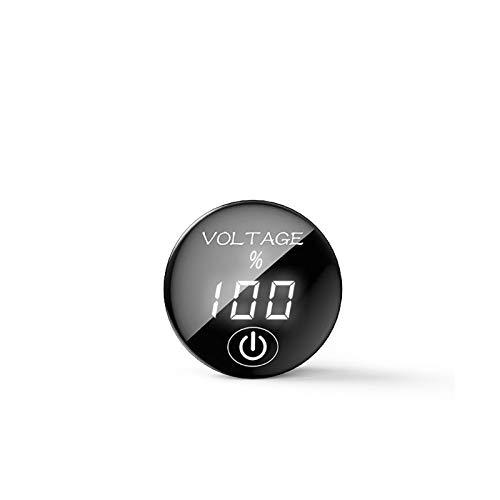 1 unids Daier Coche Motocicleta DC 5V-48V Panel LED Medidor de voltaje digital Capacidad de la batería Voltímetro con toque en el interruptor OFF Tablero de interruptores (Color : Black)