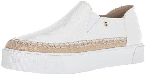AX Armani Exchange Damen Snakeskin Textured Slip On Platform Sneaker Turnschuh, Bianco, 40.5 EU