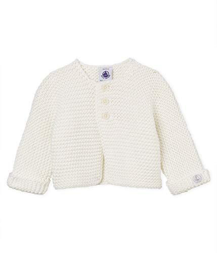 Petit Bateau BAB Gilet, Blanc (Marshmallow 03), Nouveau-né (Taille Fabricant: 6 Mois) Mixte bébé