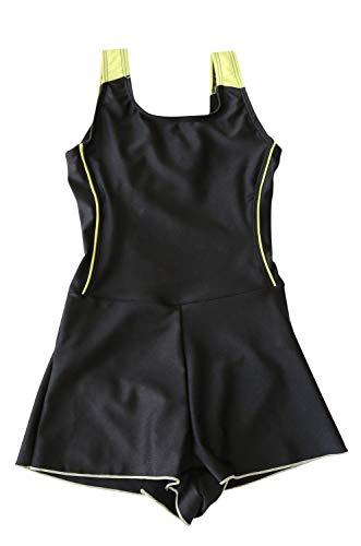 [グロウンチャーム] スクール水着 ショートパンツ インナー付き 女の子 sc0003 イエロー 150cm