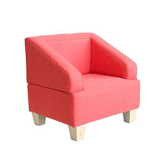 YONGJUN Das Sofa Der Kinder, Kreative Einfache Baby-Sofa-Stuhl-Gewebe-Minikinder Beiläufige Farbe Der Möbel-2 Wahlweise Freigestellt (Farbe : Rot)
