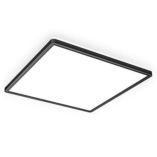 B.K.Licht LED Panel mit indirektem Licht I LED Deckenleuchte I LED Deckenlampe I Ultra Flach 29mm I Neutralweiße Lichtfarbe I 420x420mm