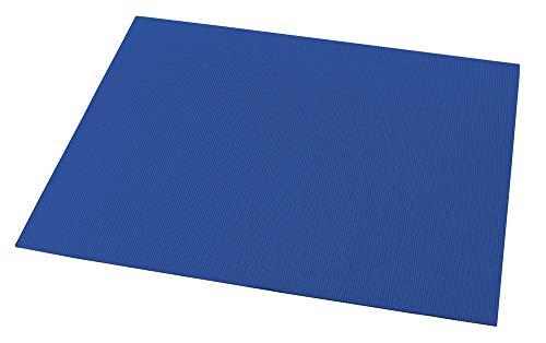 WENKO Waschmaschinen-Auflage Blau Blau Kunststoff Frontlader Toplader Abdeckung