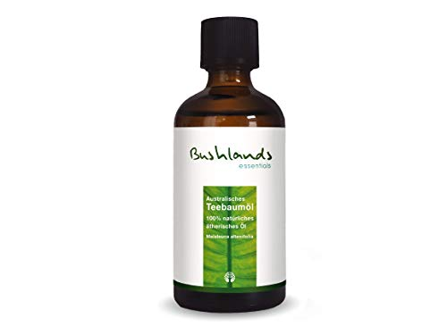 Teebaumöl 100 ml - 100% naturreines, australisches, ätherisches Öl der Pflanze Melaleuca alternifolia von Bushlands essentials