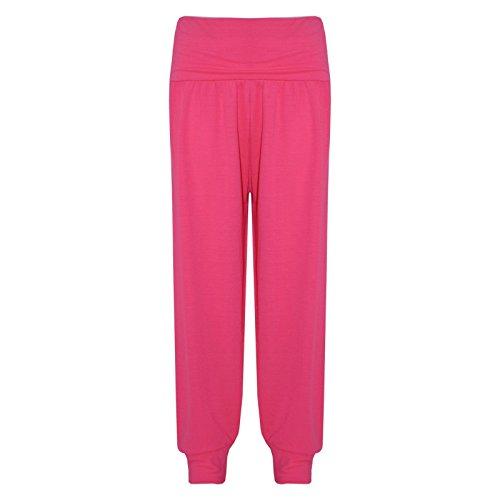 a2z4kids A2Z 4 Kids® Kinder Mädchen Ali Baba Stil Einfach - Ali Baba Trouser Neon Pink 2-3