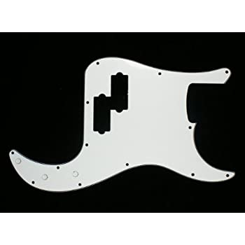 LEFT-HANDED Custom Precision Bass PB style Guitar Pickguard 3ply Black C23