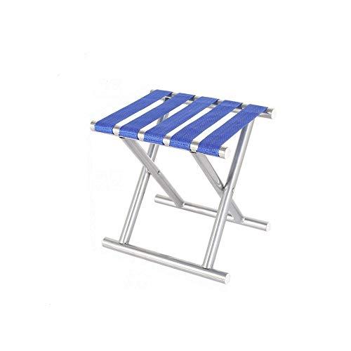 WPCBAA Draagbare kleine klapstoel voor vrije volwassenen vissen, hocker en trein, verdikking rugleuning, mazar stoel