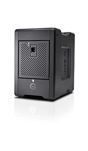 SanDisk Professional 72TB G-RAID Shuttle 4 - Enterprise-Class 4-Bay External Hard Drive, Thunderbolt 3 and USB-C, Transportable, Hardware RAID - SDPH34H-072T-NBAAB
