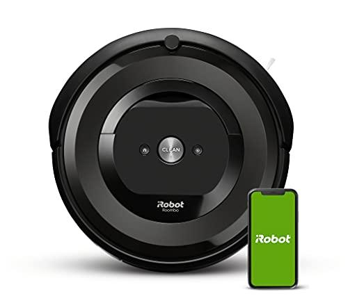 iRobot Roomba e6192 Aspirapolvere robot connesso, 2 spazzole in gomma multisuperficie, ideale per...