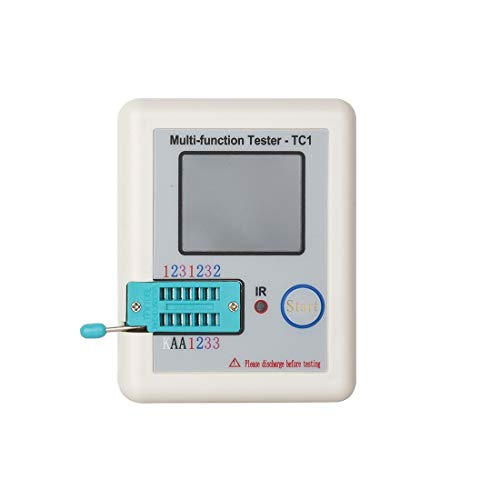 Tc1 Tester - Pocketable Transistor Tester Lcr Tc1 Full Color Graphics Electrical Digital Lcd Display Mosfet Jfet - Tester Meter Module Best Display Transistor Mosfet Printer Wireless Multi