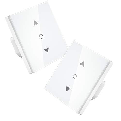 【5th Generation】Maxcio Alexa Rolladen Zeitschaltuhr mit Prozentfunktion, Smart Wlan Vorhang Rolladenschalter, Schaltbares LED, Kompatibel mit Alexa und Google Home, Smart Home Hilfer- 2 Packs