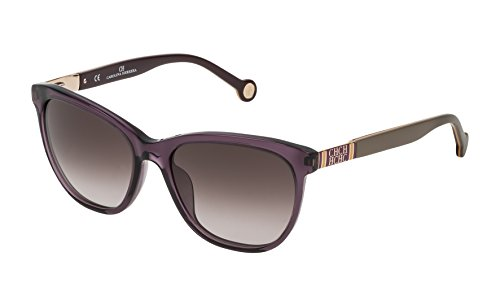 Carolina Herrera Gafas de Sol Mujer SHE691540916 (Diametro 54 mm), Beige (916), 54 Unisex-Adult